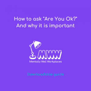 how to ask are you ok mental health resources